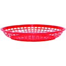 Tablecraft 1084R Oval Jumbo Basket Red