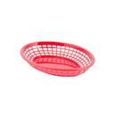 Tablecraft 11.7 Inch Red Oval Jumbo Basket 3 Dozen Per Pack - 1 Per Case