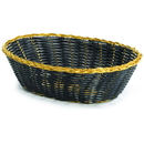 Tablecraft 975B Oval Blk Vinyl/Gold 9X6X2.5