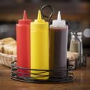 Tablecraft 12 Ounce Yellow Dispenser Squeeze Bottle 12 Per Pack - 1 Per Case
