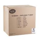 Tablecraft 7 Inch Black Tote Box 1 Box - 12 Per Case