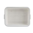 Tablecraft 7 Inch White Tote Box 12 Per Pack - 1 Per Case
