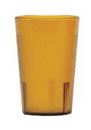 Colorware 7.8 Ounce Amber Plastic Tumbler Cup 24 Per Pack - 1 Per Case