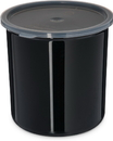 Carlisle 2.7 Quart Black Plastic Crock With Lid 1 Per Pack