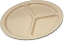 Carlisle 10 Inch 3 Compartment Melamine Plate 48 Per Pack - 1 Per Case