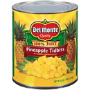 Del Monte Pineapple Tidbits Packed In Juice 106 Ounces - 6 Per Case