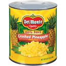 Del Monte In 100% Pineapple Juice Crushed Pineapple #10 Can - 6 Per Case