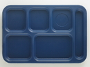 Cambro 10 Inch X 14.5 Inch School Compartment Navy Blue Tray 24 Per Pack - 1 Per Case