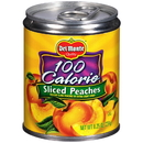 Del Monte 100 Calorie In Extra Light Syrup Sliced Yellow Cling Peach 8.25 Ounce Can - 12 Per Case
