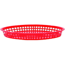 Tablecraft 12.75 Inch X 9.5 Inch X 1.5 Inch Red Oval Jumbo Platter Basket 36 Per Pack - 1 Per Case