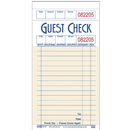 National Checking 3.5 Inch X 6.75 Inch 1 Part Salmon 13 Line Guest Check 50 Per Book - 10 Per Pack - 5 Per Case