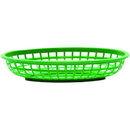Tablecraft 9.375 Inch X 6 Inch X 1.375 Inch Classic Oval Green Basket 36 Per Pack - 1 Per Case