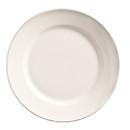 Porcelana Rolled Edge 7.125 Inch Bright White Wide Rim Plate 36 Per Pack - 1 Per Case
