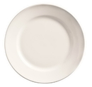 Porcelana Rolled Edge 9 Inch Bright White Undecorated Wide Rim Plate 24 Per Pack - 1 Per Case