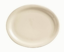 Kingsman White 13.25 Inch X 10.25 Inch Narrow Rim Cream White Platter 12 Per Pack - 1 Per Case