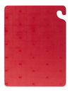 San Jamar CB182412RD Cut-N-Carry Color Cutting Board 18 X 24 X 1/2 Red