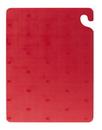 San Jamar 15 Inch X 20 Inch X .5 Inch Cut-N-Carry Red Cutting Board 1 Per Pack