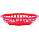 Tablecraft 1071R Oval Red Basket Hdpe 7.75X5.5