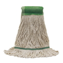 O-Cedar Commercial 97413-3 Maxicotton(Tm) Loop-End Mops - Natural Large. Tailband Allows Mop To Cover Morefloor Area Per Stroke. Saves Labor.