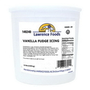 Lawrence Foods Vanilla Fudge Icing 11 Pound Tub - 2 Per Case