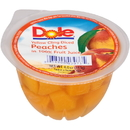 Dole Kosher Diced Peach In Juice 4 Ounce Cup - 36 Per Case