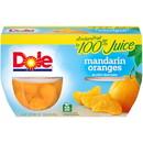 Dole In 100% Juice Mandarin Oranges 4 Ounce Plastic Bowl - 4 Per Pack - 6 Per Case