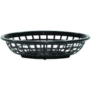 Tablecraft 1071BK Oval Basket Black Hdpe 8X5.5X2