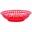Tablecraft 1075R Round Basket Red 8