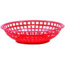 Tablecraft 8 Inch Red Round Basket 36 Per Pack - 1 Per Case