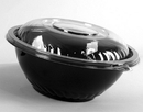 Wna-Caterline 80 Ounce Black Plastic Bowl 25 Count