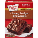 Duncan Hines Chewy Fudge Full Size Brownie 18.3 Oz