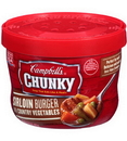 Campbell'S Chunky Sirloin Beef With Country Vegetable Microwaveable Soup 15.25 Ounce Bowl - 8 Per Case