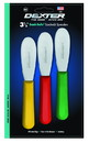 Dexter Sani-Safe 3 Scalloped Red Yellow And Green Spreader 3 Per Pack