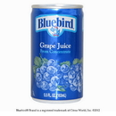 Bluebird From Concentrate Shelf Stable Grape Juice