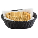 Tablecraft 2474 Oval Black Pp Basket 9X6X2.25