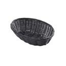 Tablecraft 9 Inch X 6 Inch X 2.25 Inch Oval Black Plastic Basket 12 Per Pack - 1 Per Case