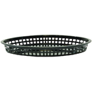 Tablecraft 12.75 Inch X 9.5 Inch X 1.5 Inch Jumbo Platter Oval Black Plastic Basket 36 Per Pack - 1 Per Case