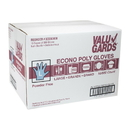 Valugards Poly Large Glove 500 Per Box - 10 Boxes Per Case