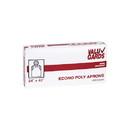 Valugards 24X42 Economy Poly Embossed White Light Duty Apron 100 Per Box - 10 Boxes Per Case
