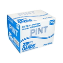 Handgards Zipgards Low Density Recloseable Pint Clear Flat Stack Storage Bag 500 Per Pack - 1 Per Case