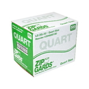 Handgards Zipgards Low Density Recloseable 7 Inch X 8 Inch Quart Storage Bag 500 Per Pack - 1 Per Case