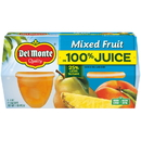 Del Monte In 100% Juice Mixed Fruit 4 Ounce Plastic Bowl - 4 Per Pack - 6 Per Case