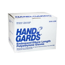 Handgards Comfortfit Powder Free Latex Free One Size Embossed Poly Glove 100 Per Pack - 10 Per Case
