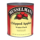 Musselman'S Chipped Apples Water Pack 104 Ounce Cans - 6 Per Case