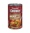 Campbell'S Chunky Beef With Country Vegetable Easy Open Soup 18.6 Ounce Can - 12 Per Case