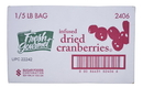 Fresh Gourmet Infused Cranberries 5 Pounds - 1 Per Case