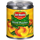 Del Monte In Heavy Syrup Sliced Yellow Cling Peaches 8.5 Ounce Can - 12 Per Case