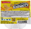Malt O Meal Honey Graham Toasters Cereal 1 Ounce - 96 Per Case