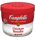 Campbell'S Red & White Chicken And Noodles Bowl Microwaveable Soup 15.4 Ounce Bowl - 8 Per Case