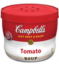 Campbell'S Red & White Tomato Bowl Microwaveable Soup 15.4 Ounce Bowl - 8 Per Case